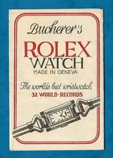 1930s BUCHERER CO. LTD WATCHMAKERS ADVERTISING LEAFLET STREET MAP LUCERNE