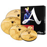 "Zildjian 15"" A Custom Cymbal Set - 4 Pieces #A20579-11 FREE CYMBAL BAG"