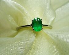 Emerald Solitaire Natural Not Enhanced Fine Rings