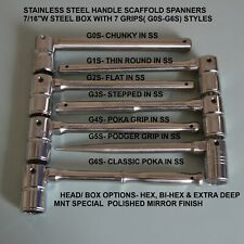 Steel Head Stainless Steel Flat Handle (G2S) Scaffold Spanner
