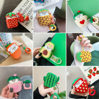 3D Cute Fruit Case For Apple AirPods Charging Case Cartoon Silicone Cover Holder
