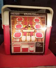 Vtg. Keter Pik Nik Pak .. 42 Piece Picnic Set In Convenient Carry-All  Container