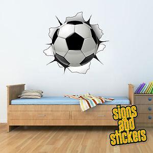 3d Sticker mural footballeur football porte Stade XXL 3d Autocollant Enfants