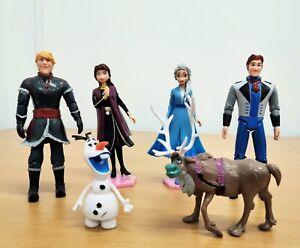 6pcs Frozen 2 Playset Include Anna Elsa Kristoff Olaf figure Toys 17cm Tall