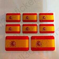 Autocollant Espagne Drapeau 3D Résine Adhésif Relief Autocollants Espagne