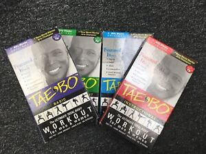 Tae Bo Ultimate Workout 4 Pack (VHS, 1999, 4-Tape Set, 4 Tapes)