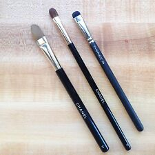 Lot of 3 Makeup Brushes Chanel 2, 11 and MAC 214 (Eye and concealer brushes)USED