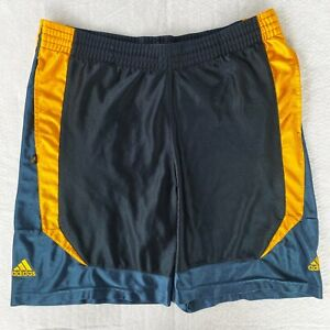 Adidas Basketball Athletic Shorts Navy & Gold Size Medium Notre Dame