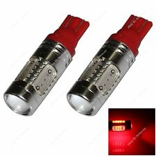 2x Red T10 W5W 5SMD COB LED 3.5W Car Side Clearance Lamp Roof Light Reading Bulb