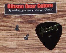 Gibson Les Paul Truss Rod Cover Screw Set Black Genuine Guitar Parts Plate SG ES