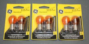 2 EACH GE Amber 1157NA 12V Turn Signal Bulbs NEW USA OR EUROPE MADE SEE NOTES