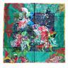 100% Silk Scarf Square Scarfs For Women Neck Handkerchief Flower Print Bandana