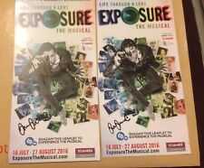 Natalie Anderson & Michael Greco  Signed Exposure The Musical Theatre Flyer