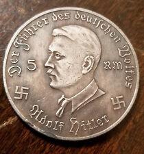 Adolf Hitler Third Reich Nazi coin KRIM CAMPAIGN SHIELD WW2 WWII German Germany