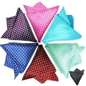 Men's Pocket Square Dots Handkerchief Hanky for Wedding, Party,Any Occasion