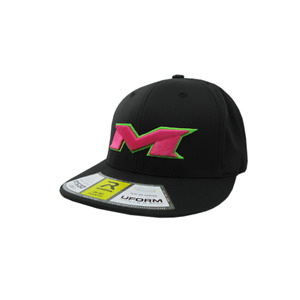 Miken Hat by Richardson (PTS30) All Black/Neon Green/Pink