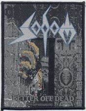 Sodom Better Off Dead Original Sew On Patch