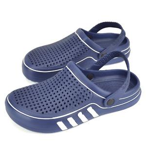 Men's Garden Clogs Water Shoes Boat Shower Pool Slippers Slip on Sandals