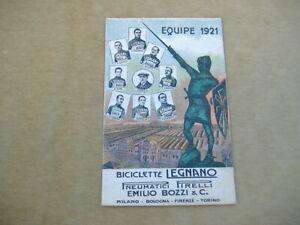 """CARTOLINA PUBBLICITARIA CICLISMO """"EQUIPE 1921 BICICLETTE LEGNANO-PIRELLI"""" NON VG"""