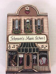 """Vintage Brandywine Woodcrafts """"Johnson's Music School"""" Shelf Sitter"""