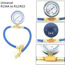 Universal R12/R22 Car Air Conditioning Refrigerant Recharge Hose + can Gauge Kit