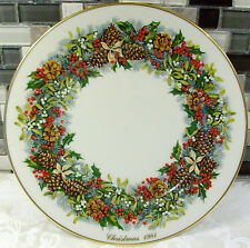 Lenox Christmas 1981 Colonial Christmas Wreath Issue VirginiaThe First Colony Pl