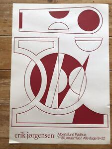 Erik Jorgensen Exhibition Poster Danish Art Mid Century Modern - Møbelfabrik