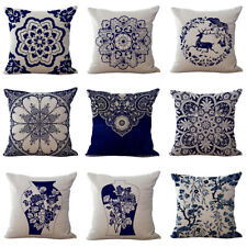 Chinese Style Blue And White Porcelain Pattern Pillow Case New Cushion Cover