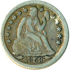 More details for united states 1853 arrows liberty seated silver dime     #wt1328