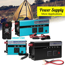 Power inverter 3000W 4000W 12V DC to 110V AC FOR Truck/RV Car/Home Charge Supply
