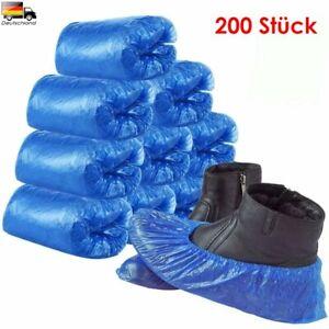 200X Einweg Überschuhe Überzieher Schuhüberzieher Anti-Rutsch Schuhe Abdeckung