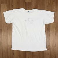Vintage CALVIN KLEIN JEANS Mens T-Shirt | Retro Summer CK | XL White