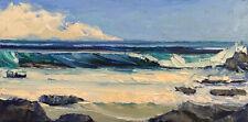 PACIFIC FORM 2020 Original Seascape Ocean Expression Painting 10x20 010720 KEN