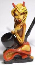 Sexy Gold Devil Girl Handmade Tobacco Smoking Pipe, Plus 5PCs Brass Screen