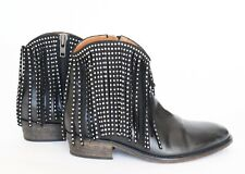 Ankle Boots - Via Roma 15 - Fringed Cowboy Boots - 39 / UK 6