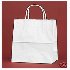 "200 PCS White Queen 16x6x19"" Kraft Paper Retail Shopper Gift Bag Shopping Bags"