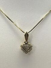 14K YELLOW GOLD DIAMONDS-HEART PENDANT WITH10K YELLOW GOLD 16 INCH CHAIN