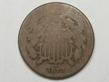 Better-Date 1870 US Shield Two Cent Coin. 2¢.  #37