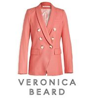 NWT VERONICA BEARD Dickey Jacket Oskar Melon SIZE 14 Women Coral Blazer $695
