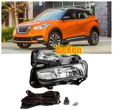 Bumper Fog Light Kit for Nissan Kicks 2017 2018 2019 2020 w/ Wiring Switch Bezel