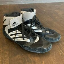 Mens Adidas Wrestling Shoes Black And Gray Size 9