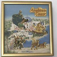 Disney Arabian Jasmine Rajar Genie Framed Pin Badge Set Tokyo Disney Resort