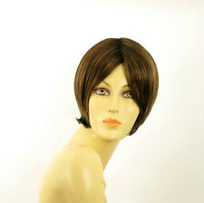short wig woman smooth chocolate copper wick clear ref: 627c BLANDINE