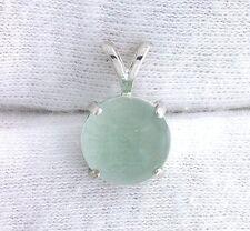10mm Green Fluorite Cab Cabochon Gem Gemstone Sterling Silver Pendant EBS1778