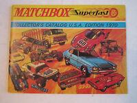"1970 MATCHBOX CATALOG - U.S.A EDITION - MINT CONDITION - 63 PAGES - 6"" X 4 1/2"""