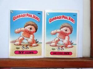 Topps UK GARBAGE PAIL KIDS 2nd series - 44a & 44b - Sy Clops & One-Eyed Jack