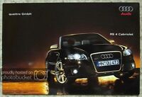 AUDI QUATTRO RS4 CABRIOLET Car Sales Brochure Sept 2006 #658/1143 00 18