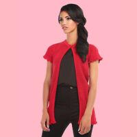 Collectif B&B Carla Red Crochet Vintage Mod Boho Cardigan BNWT FAST FREE SHIP!