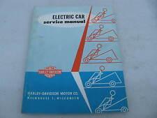 1963 Harley-Davidson Electric Car golf cart Service Manual catalog 99494-63