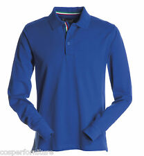 Polo Manica lunga Payper Long Nation in cotone Uomo 3xl Blu Royal